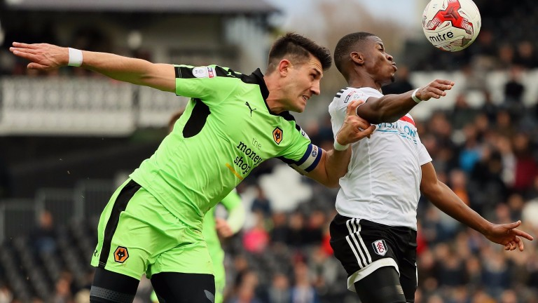 Fulham's Floyd Ayite (right)