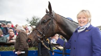 Jessica Harrington with her Irish National hero Our Duke