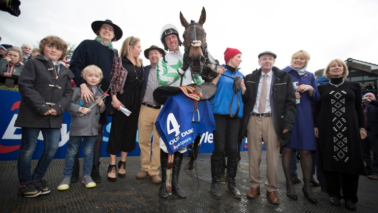 HOrse racing: the Our Duke team celebrate their 2017 Irish Grand National success