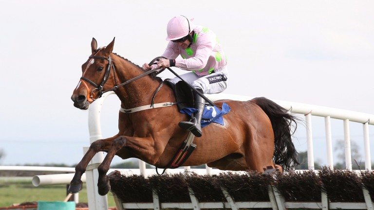 Thomas Hobson and Ruby Walsh jump the last on the way to providing Willie Mullins with a title boost