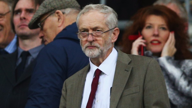 Jeremy Corbyn: has he been moonlighting as a race programmer in France?