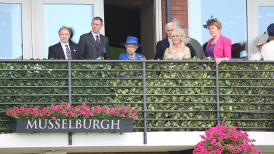 HM THE QUEEN  at Musselburgh Racecourse  8/7/16Photograph by GROSSICK RACING 07710461723