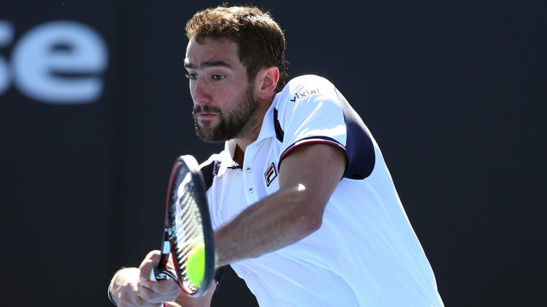 Marin Cilic blasted Jeremy Chardy off court in round two