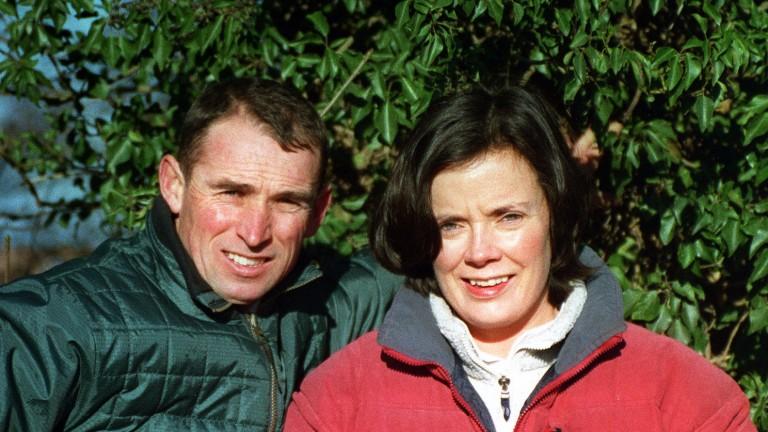 Simon Griffiths with his partner Elizabeth Grant