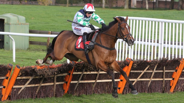 Two Taffs and Harry Skelton in action over hurdles at Carlisle