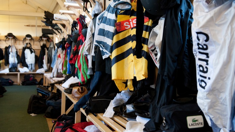 The jockeys changing room will be busy again today