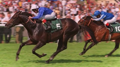 Cape Cross wins from Poteen at Newbury May 1998 Mirrorpix