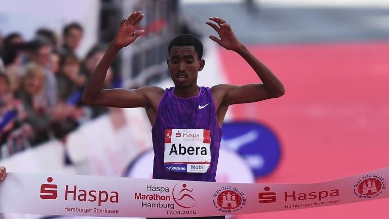 Tesfaye Abera won the Dubai and Hamburg Marathons in 2016