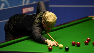 Neil Robertson cued well in his Crucible curtain-raiser