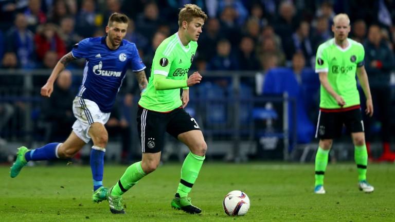 Matthijs de Ligt of Ajax during their Europa League defeat to Schalke