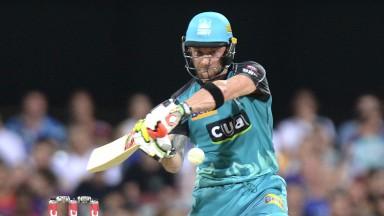 Gujarat's Brendon McCullum in action for Brisbane Heat
