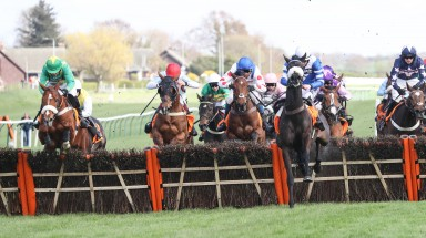 Chesterfield (far left) gives Seamus Mullins and Daniel Sansom their biggest win in the QTS Scottish Champion Hurdle