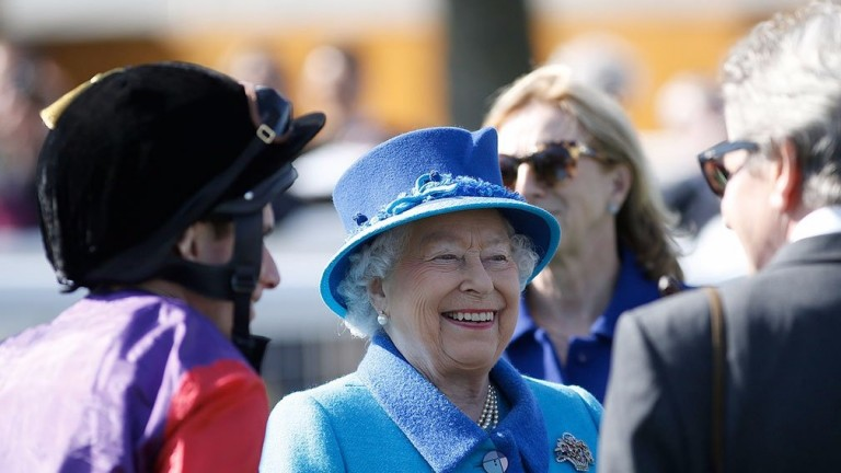 The Queen: celebrated a belated birthday winner at Newbury
