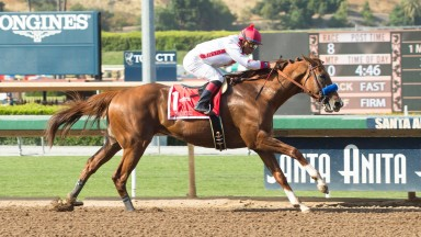 Collected (Martin Garcia) records an emphatic victory in the Grade 2 Californian at Santa Anita on Saturday