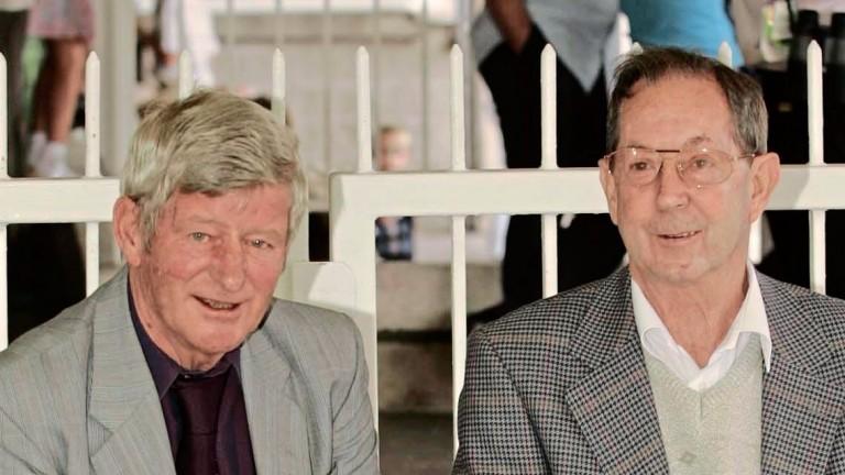 Johnny Roe (right) with fellow Irish champion Flat jockey George McGrath in 2005