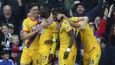 Palace celebrate at Anfield