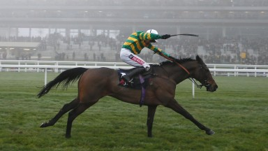 ASCOT, ENGLAND - DECEMBER 17:  Barry Geraghty riding Unowhatimeanharry (R) clear the last to win The JLT Long Walk Hurdle Race at Ascot Racecourse on December 17, 2016 in Ascot, England. (Photo by Alan Crowhurst/Getty Images)