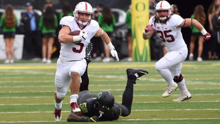 Stanford running back Christian McCaffrey