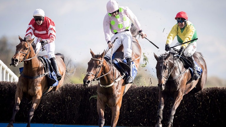 Sizing John (right) is challenged by Djakadam (centre) and Coneygree
