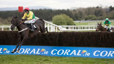 Sizing Granite and Robbie Power jump the last en route to landing the Guinness Handicap Chase