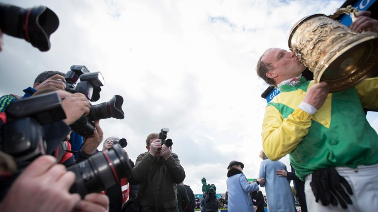 Robbie Power is the centre of attention after winning the Punchestown Gold Cup