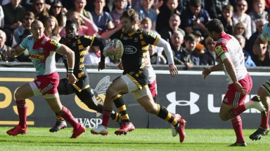 Wasps back Elliot Daly (right) has scored three tries in his last four Premiership outings