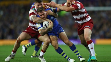 Warrington hooker Daryl Clark (centre) returns from suspension