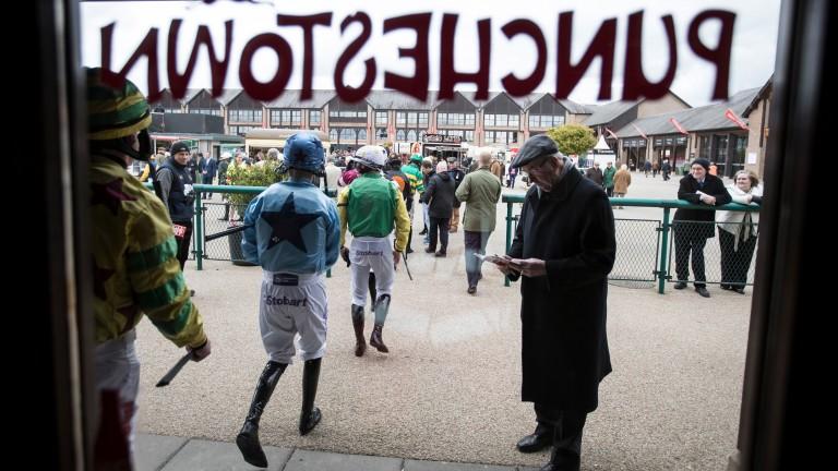 Jockeys head out for the first race on Thursday
