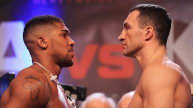 Anthony Joshua and Wladimir Klitschko ho head to head