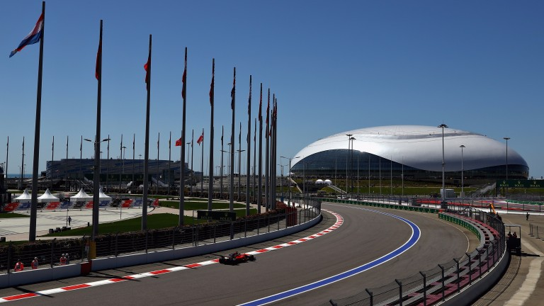 The Sochi Autodrom winds around the 2014 Winter Olympic park