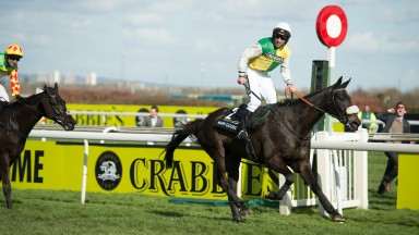 Many Clouds (Leighton Aspell) wins the Grand NationalAintree 11.4.15 Pic: Edward Whitaker