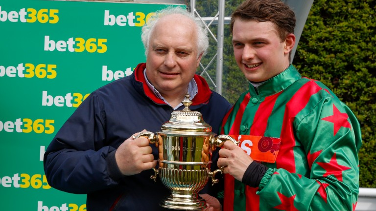 Winning team: Peter and Sean Bowen with the bet365 Gold Cup