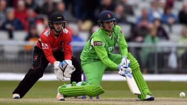 Liam Livingstone in attack-mode for Lancashire against Leicestershire