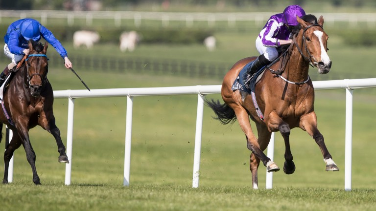 Minding sprints clear of Moonlight Magic to land the Mooresbridge Stakes