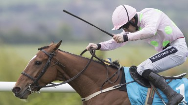 Bapaume and Ruby Walsh storm home in the Champion Four Year Old Hurdle