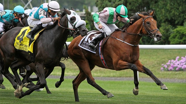 Deauville: wins the Grade 1 Belmont Derby Invitational Stakes at Belmont Park