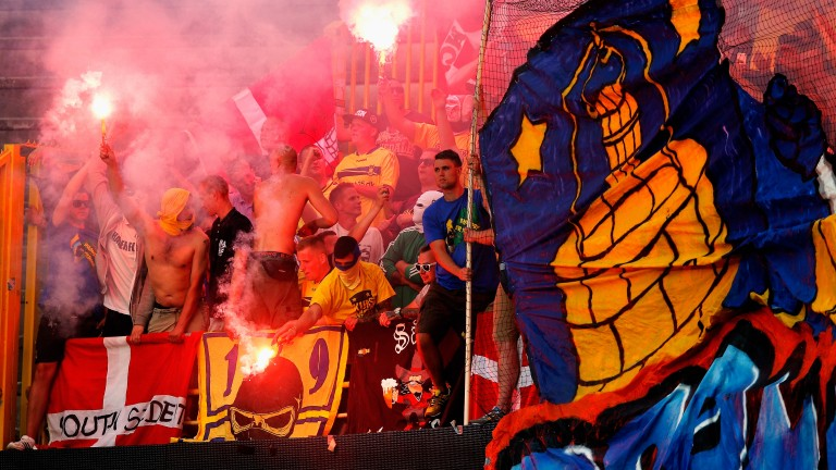 Brondby fans haven't had much to celebrate recently
