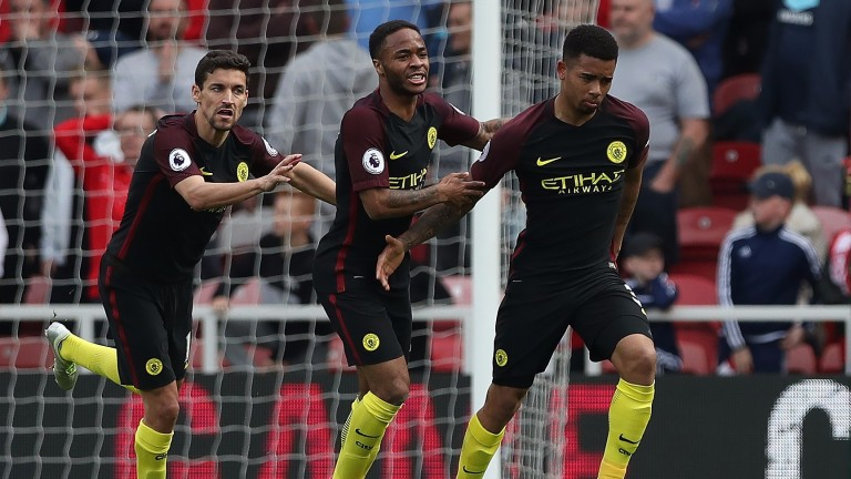 Gabriel Jesus (right) scored Manchester City's second equaliser at Middlesbrough last time out