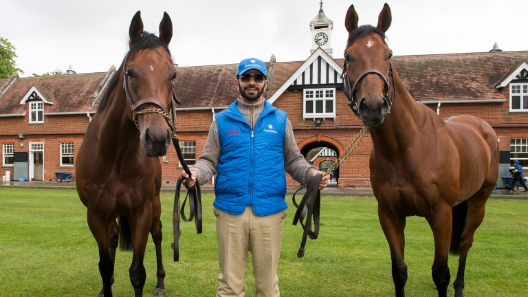Saeed Bin Suroor with Dream Castle (left) and Benbatl