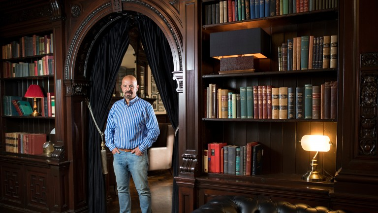 Dr Koukash stands amid the restored splendour of his Liverpool hotel