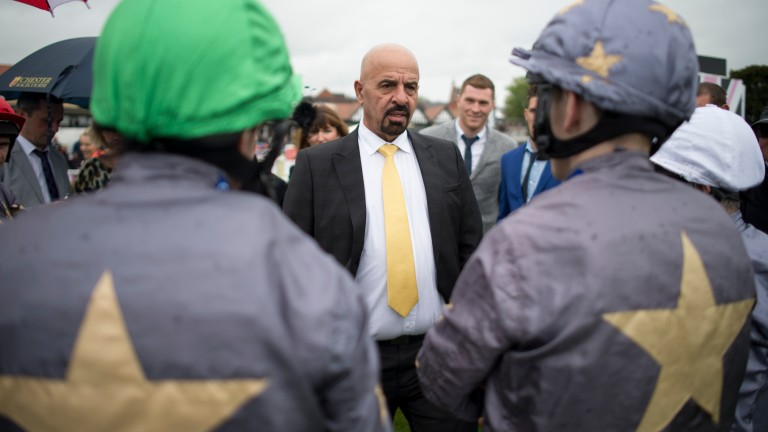 Marwan Koukash rallies the troops at Chester