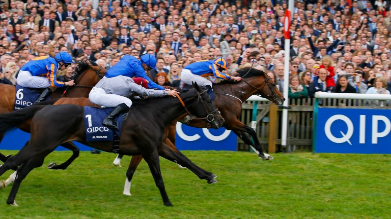 Churchill - Ryan Moore wins from Barney Roy - James Doyle and Al WukairThe Qipco 2000 Guineas Stakes (Group 1) (British Champions Series) Newmarket 3/5/17©cranhamphoto.com