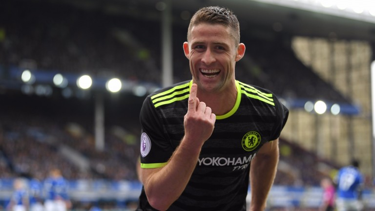 Gary Cahill's Chelsea are number one in the Premier League this season