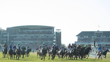A false start of the Grand NationalAintree 8.4.17 Pic: Edward Whitaker