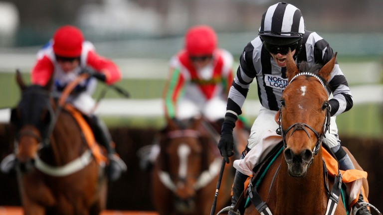 Diarmuid O'Regan: riding William Money to win at Haydock in 2015