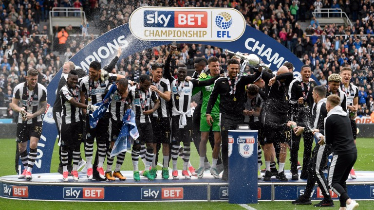 Newcastle celebrate their last-gasp title win