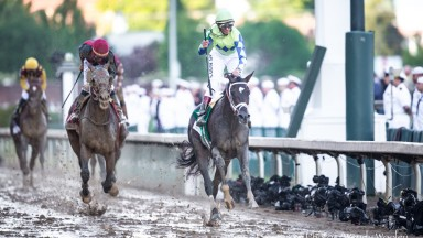 Always Dreaming (John Velazquez) beats Preakness rival Lookin At Lee to win the Kentucky Derby