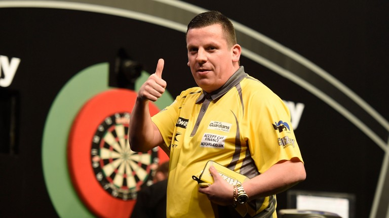 Dave Chisnall gets the thumbs up in Aberdeen