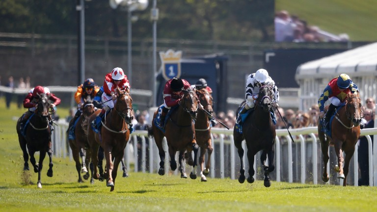 Yogi's Girl (right) lands the opening Stellar Group Lily Agnes Stakes