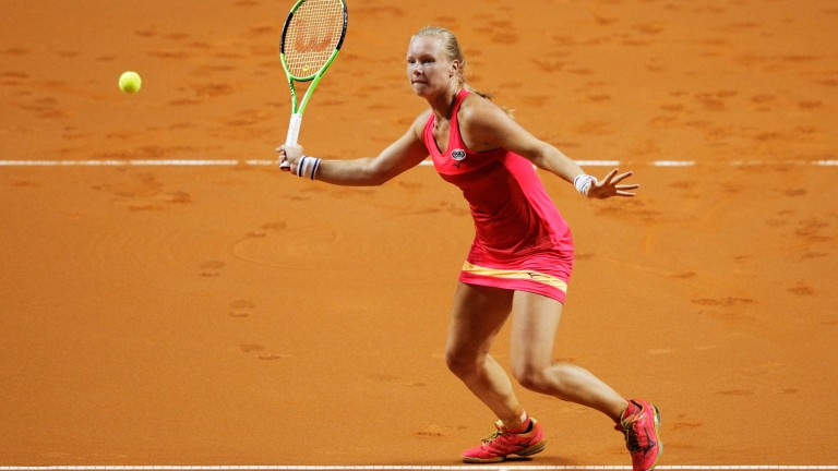 Kiki Bertens is realising her potential on the red dirt